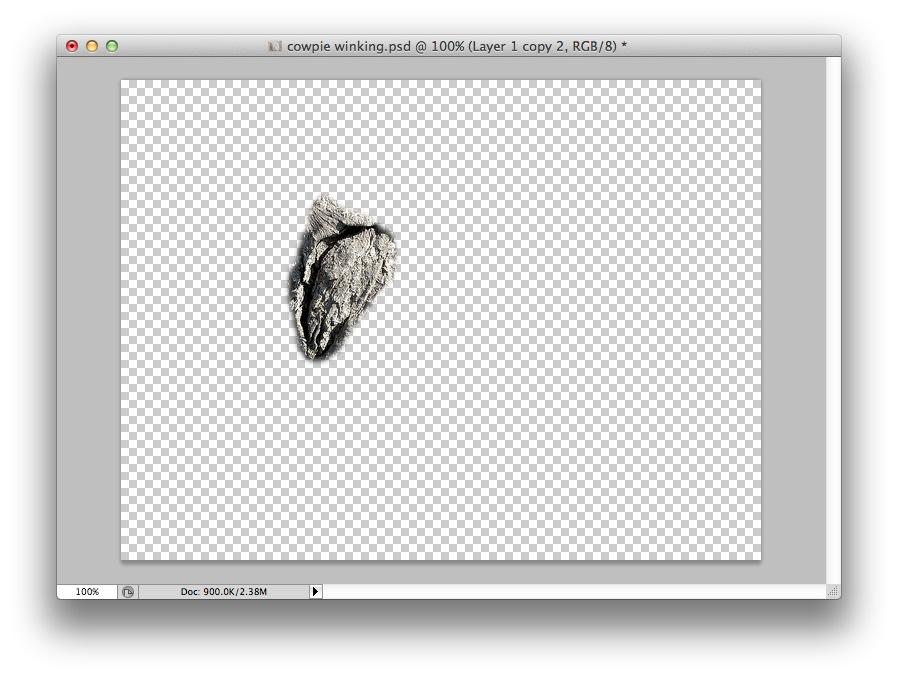 Create a copy layer and delete everything but what will animate.
